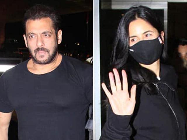 Video : Salman Khan And Katrina Kaif Fly Out Of Mumbai For <i>Tiger 3</i>
