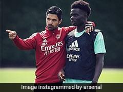 Bukayo Saka Given 'Wall Of Support' At Arsenal After Euro 2020 Penalty Abuse