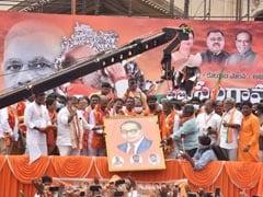 "At Huge BJP Foot March In Telangana, ""Taliban Mindset"" Slur"