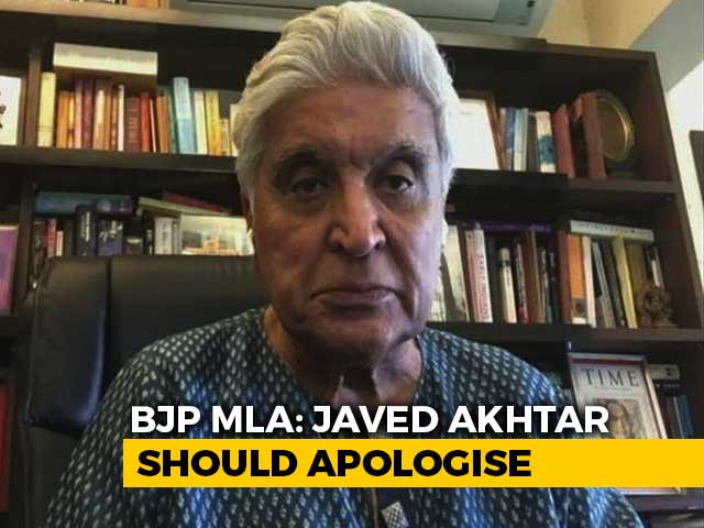 """Video : """"Won't Allow Screening Of Javed Akhtar Films Till He Apologises"""": BJP MLA"""