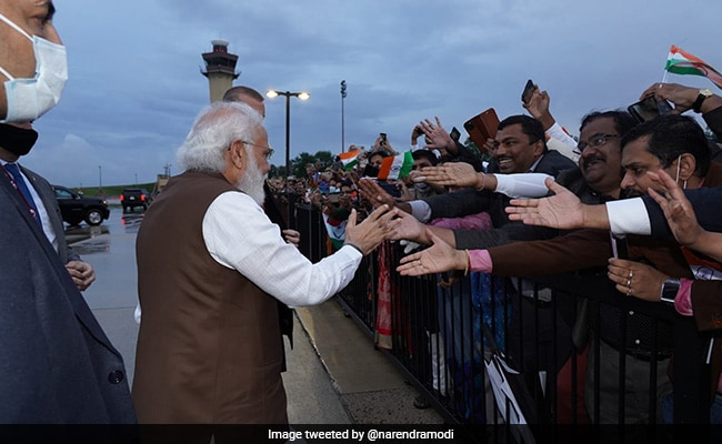 Ecstatic Indian-Americans Welcome PM Modi As He Arrives In Washington
