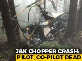 Video : 2 Army Pilots Killed As Helicopter Crash-Lands In J&K's Udhampur