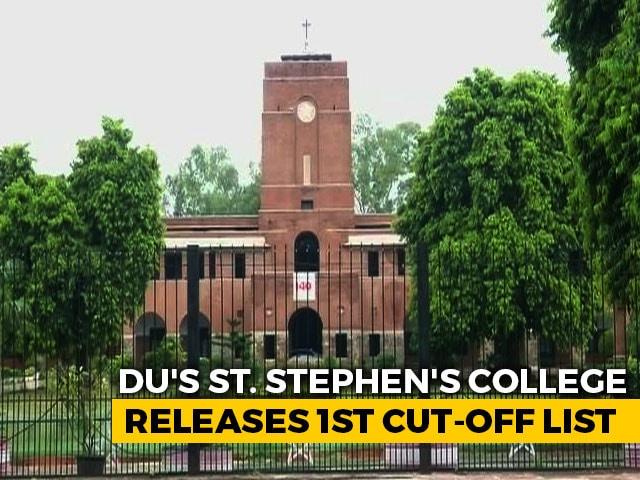 Video : DU's St Stephen's College Releases First Cut-Off List; 99.5% For BA Economics