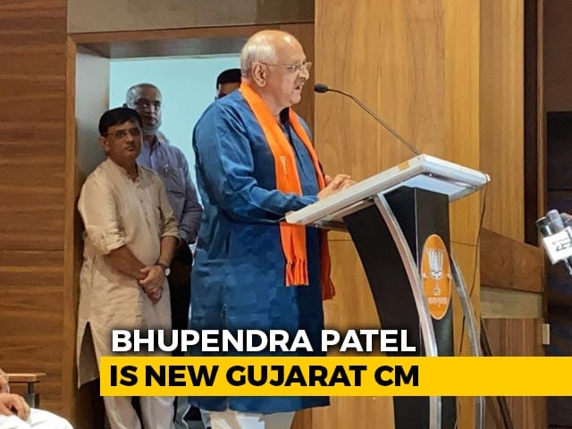 Video : Surprise Candidate Bhupendra Patel Is New Chief Minister Of Gujarat