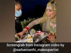 Bride Eats Pastry While Dancing On Wedding Day, 'Relatable' Says Internet