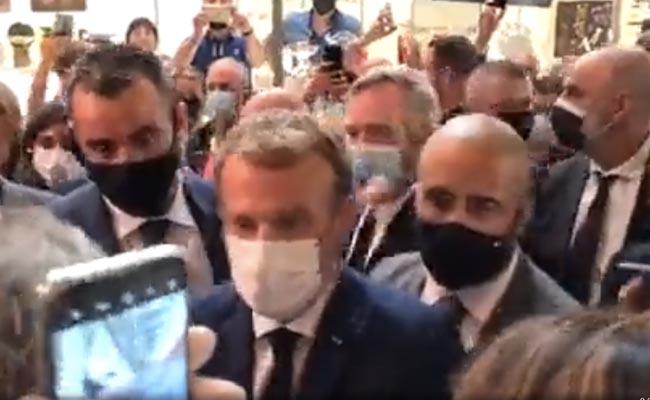 French President Emmanuel Macron Hit With Egg During Restaurant Fair Visit