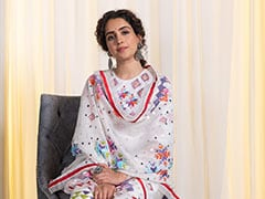 Sanya Malhotra Adds Pops Of Colour To Her Breezy Festive Organza Suit