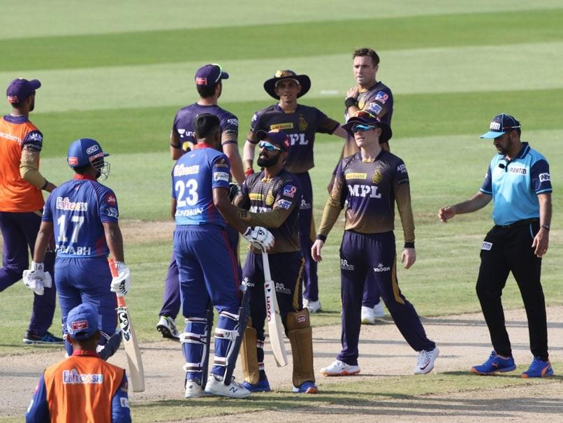 Ravichandran Ashwin and Eoin Morgan had a heated exchange during KKR vs DC match.© IPL
