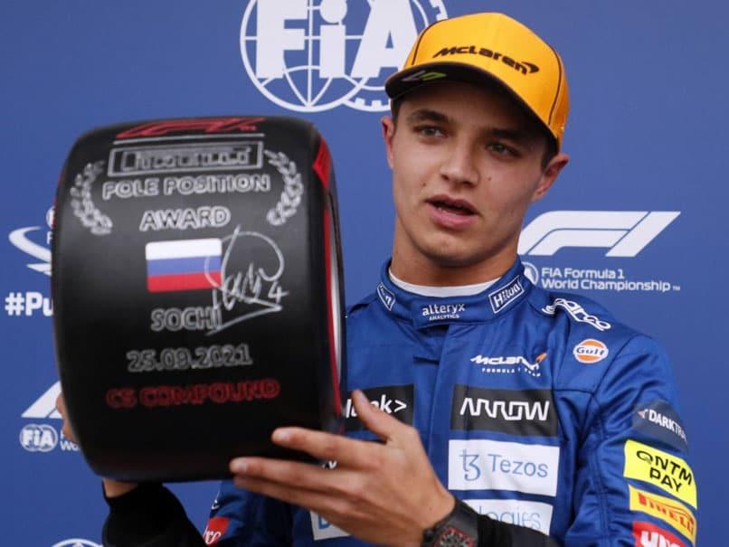 "McLarens Lando Norris Takes ""Manic"" Maiden Pole At Russian Grand Prix"