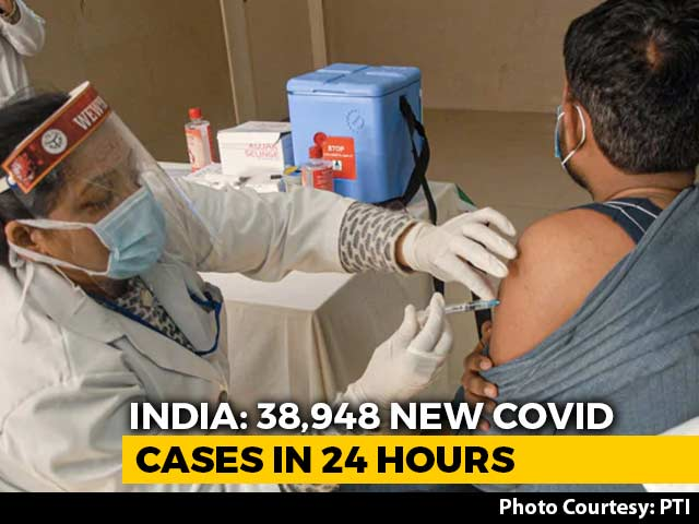 Video : 38,948 Fresh Covid Cases In India, 8.9% Lower Than Yesterday
