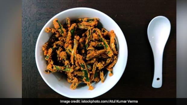 Andhra-Style Bhindi Recipe: Try This Easy Andhra Style Crispy Bhindi Recipe