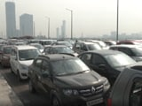 Video : Watch: Massive Traffic Jam In Delhi's Kalindi Kunj