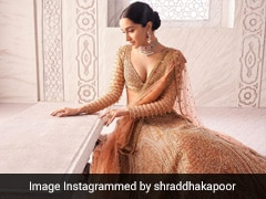 Shraddha Kapoor In A Peach <i>Lehenga</i> Is What Minimal Bridal Dreams Are Made Of