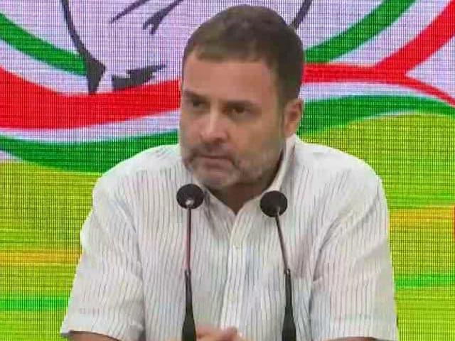 """Video : """"Increase In GDP = Increase In Gas, Diesel, Petrol,"""" Says Rahul Gandhi"""