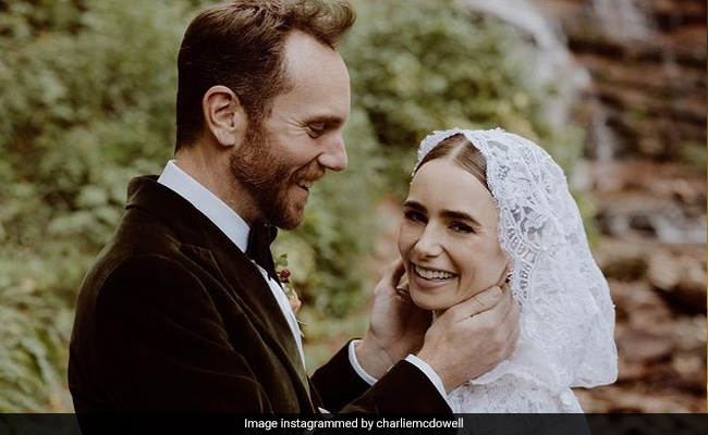 Emily In Paris Star Lily Collins Shares Dreamy Pics Of Surprise Wedding