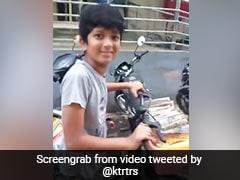 Telangana Minister KTR On Viral Video Of 12-Year-Old Newspaper Boy