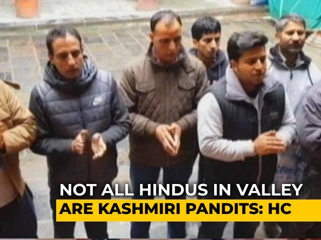 Video : Kashmiri Hindus Face Identity Barrier In PM Scheme For Kashmiri Pandits