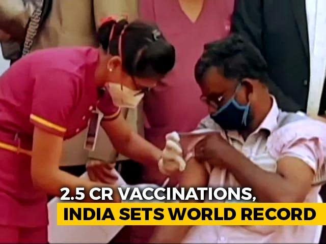 Video : With 2.5 Crore Vaccinations, India Creates World Record On PM's Birthday