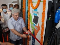 Delhi Transport Minister Lays Foundation Stone For First EV Charging Plaza At Nehru Place