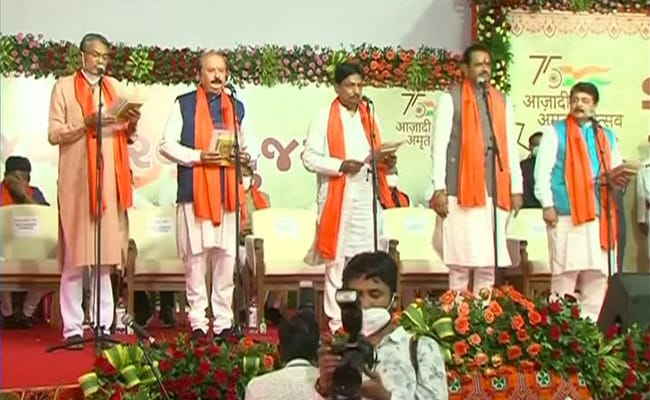Brand New Gujarat Cabinet Takes Oath Amid Dissent Over Sackings