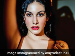 Amyra Dastur Makes Fierce Dressing A Thing For The Weekend In A Black Crop Top And Leather Skirt