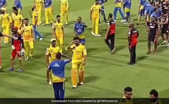 IPL 2021 Watch MS Dhoni salutes CSK support staff member, gesture goes viral
