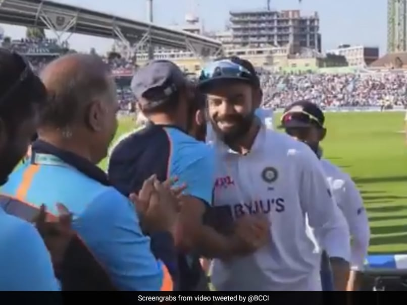 """Watch: """"Unseen Visuals"""" From Indias Dressing Room After Oval Triumph"""