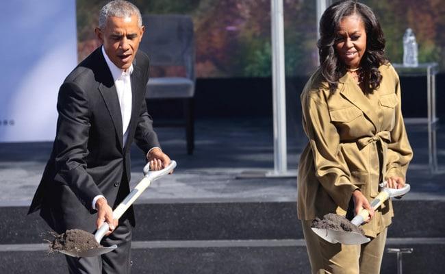 Barack Obama Breaks Ground On Presidential Library In Chicago