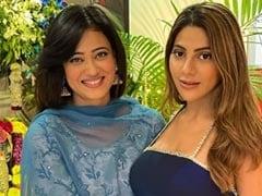 Shweta Tiwari Celebrated Ganesh Chaturthi With <i>Khatron Ke Khiladi</i>s Nikki Tamboli, Sana Makbul