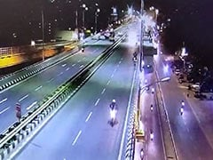 On CCTV, Couple Hit By Speeding Car Dies After Falling From Flyover In Bengaluru