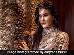 Amyra Dastur Shines Brighter Than A Diamond In A Glamorous High-Slit Dress