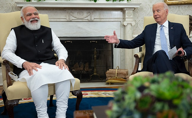 US President Jokes About '5 Bidens In India', PM Modi 'Offers' Papers