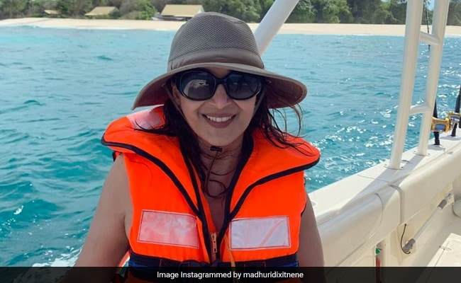 Madhuri Dixit's Million Dollar Smile Almost Eclipses The Backdrop In This Holiday Throwback
