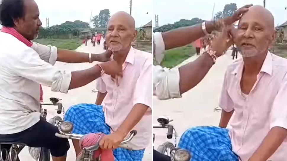 इस शख़्स ने साइकिल पर बैठकर दाढ़ी बनाई, वीडियो देख लोगों ने कहा- 'जिया हो बिहार के लाला!'