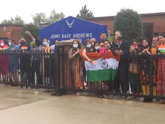 Video : Indian-Americans Welcome PM Modi As He Arrives In Washington