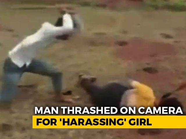 "Video : Man Thrashed On Camera For ""Harassing"" Girl In Madhya Pradesh; 3 On Run"