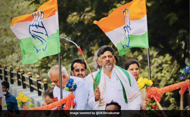 Congress's DK Shivakumar Rides Bullock Cart To Protest Against Inflation