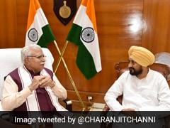 "Punjab Chief Minister's ""Courtesy"" Call To Haryana Counterpart ML Khattar"