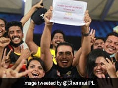 """""""Wife Didn't Allow"""": CSK Fan's Honest Banner During IPL Goes Viral"""
