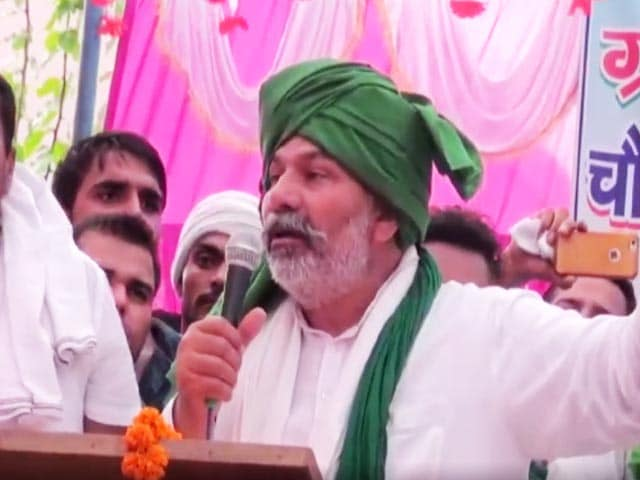 "Video : Farmer Leader Rakesh Tikait's ""BJP's Chacha Jaan"" Barb At Asaduddin Owaisi"