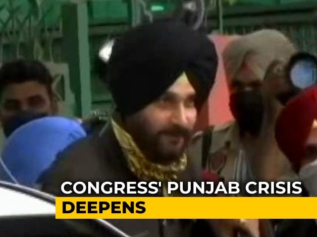 """Video : Navjot Sidhu Quits Party Post, Punjab Minister Resigns """"In Solidarity"""""""
