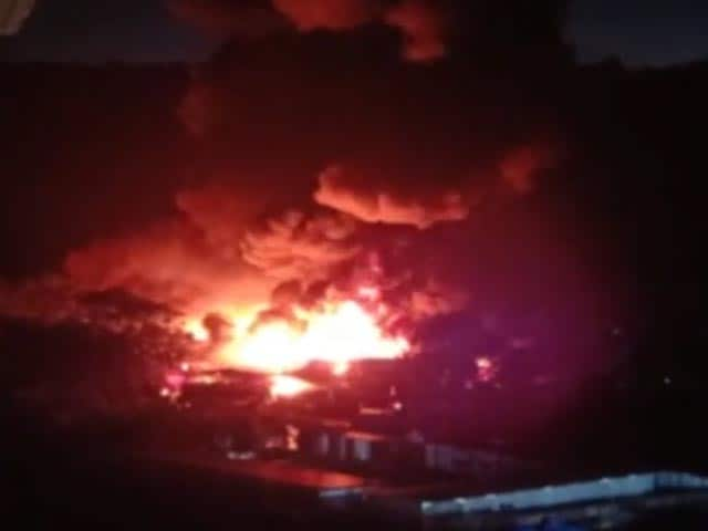 Video : Fire Breaks Out At Pune Godown, None Injured