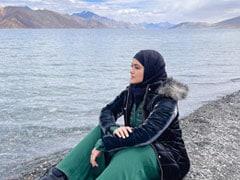 Sana Khan Shares Surreal Pics From Ladakh's Pangong Lake. See Here