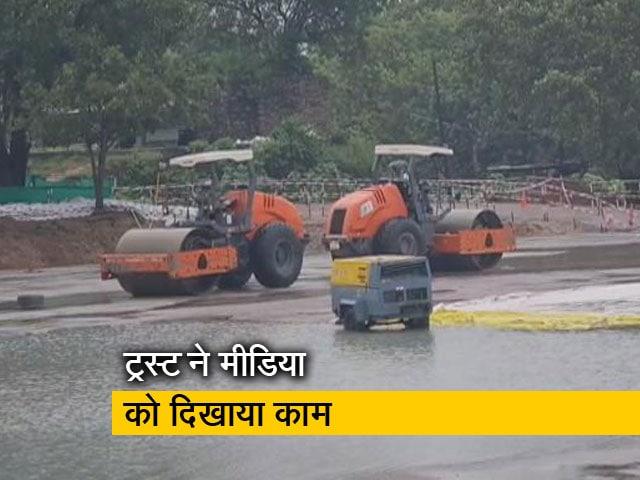 Videos : अयोध्या में राम मंदिर निर्माण की पहली झलक, बरसात के बाद शुरू होगा दूसरा चरण