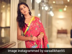 Sara Ali Khan Lends Her Own Vibrant Colours To A Funky Printed Saree