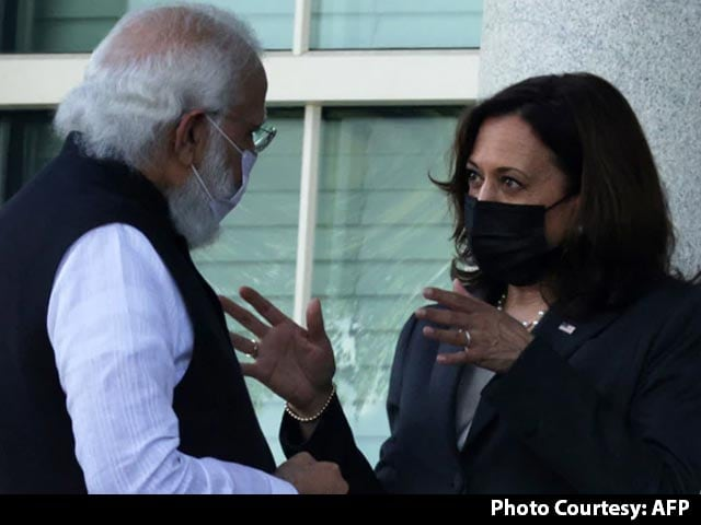 "Video : In Meet With PM, Kamala Harris ""Suo Motu"" Refers To Pak Role In Terrorism"