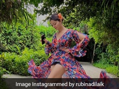 Rubina Dilaik Adds Her Floral Spin In A Dreamy Maxi Dress In Maldives