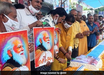 PM Modi's Birthday Featured 71ft Long Vaccine Cake And 71Kg Laddu
