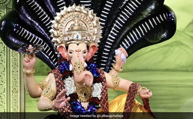 Subdued Celebrations At Mumbai's Lalbaugcha Raja Amid Covid Restrictions