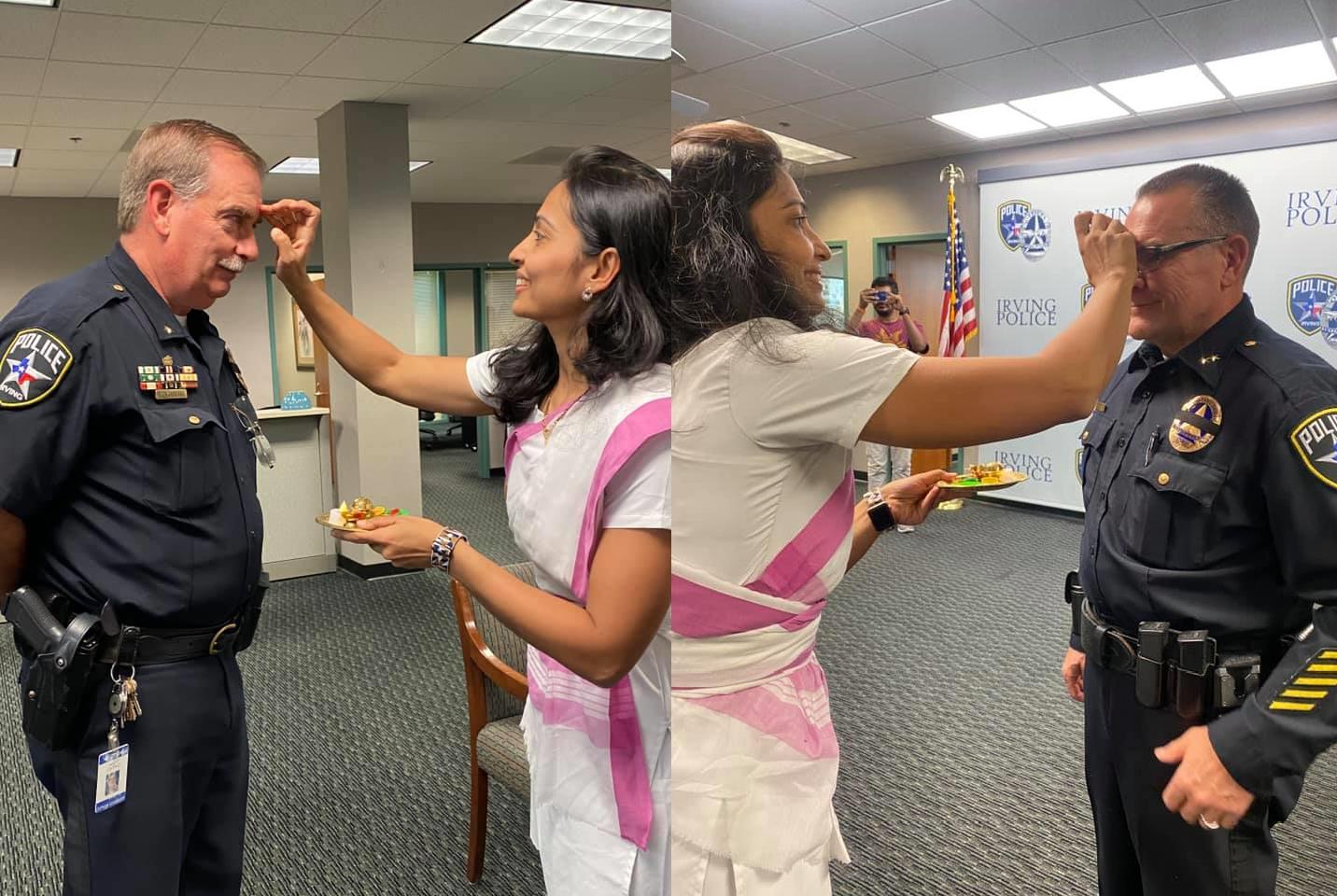 अमेरिकी पुलिस को राखी बांधकर इस महिला ने देश की संस्कृति का नाम रौशन किया